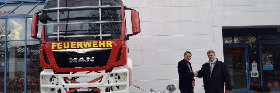 Ein Rettungsgassensimulator wird mobil